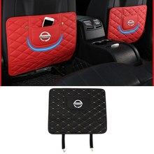Tylne siedzenie odporna na wstrząsy mata antypoślizgowa podkładka akcesoria wewnętrzne do Logo Nissan Sentra Juke uwaga J10 J11 BlueBird 350-z 370z Versa