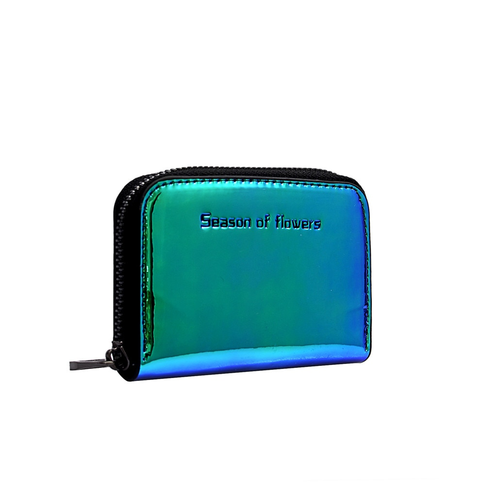 New Women Laser Holographic Wallets Short Cute Purse Small Wallet Women Folding Wallet Card Holder Coin Purse Wallet