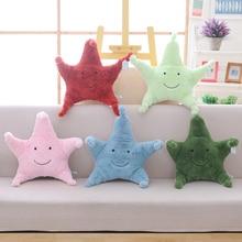 30cm estrella de mar almohada Linda estrella de dibujos animados océano sofá de animal hogar cojín amigos presenta muñeca chico de juguete