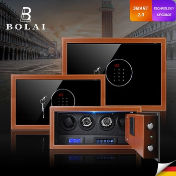Luxury Automatic Watch Winder Safe Box Carbon Fiber Watch Winding Box Quiet Motor Storage Display Case Mechanical Watches Boxes