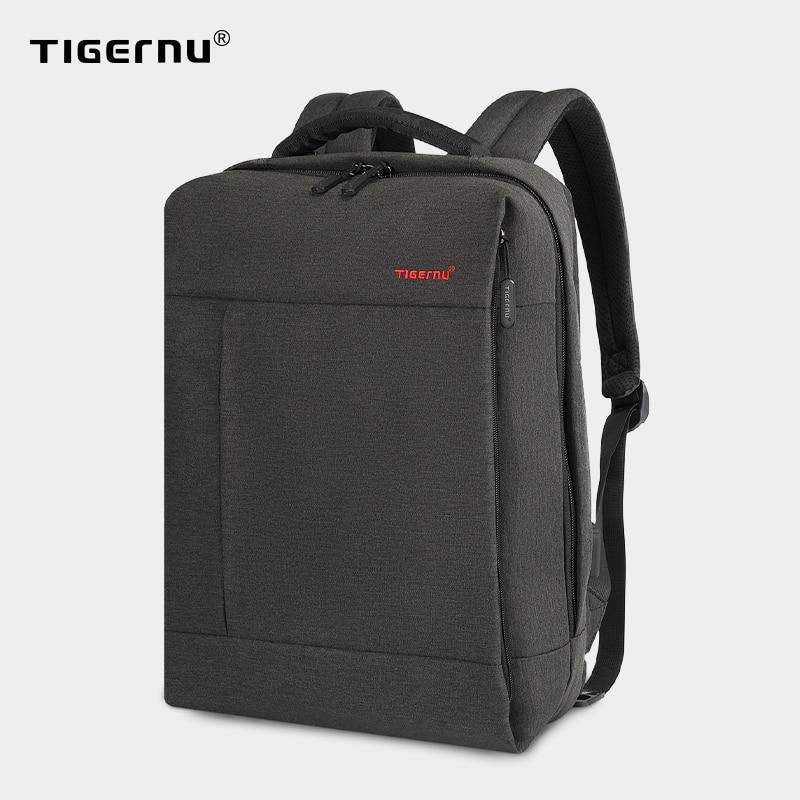 Tigernu Brand Slim Backpack USB charging Men 14 15.6 inch Laptop Backpack Women Splashproof Simple School Backpack Bag for Teens