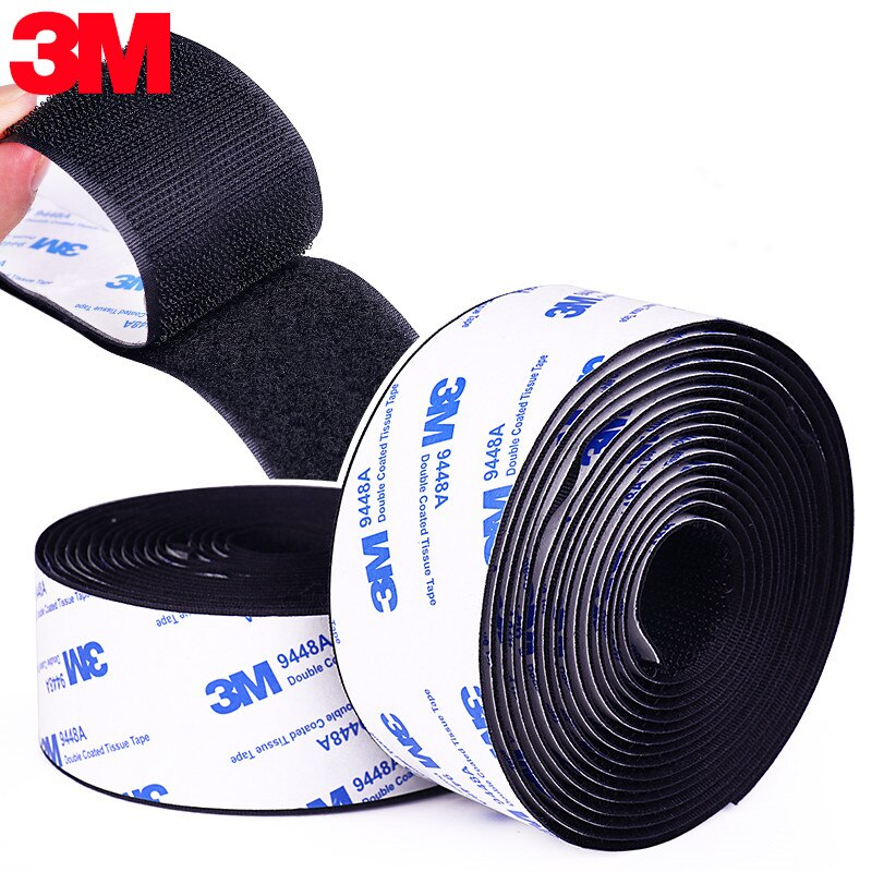 Strong Velcros Self Adhesive Fastener Tape Hook and Loop Nylon Sticker Velcros Tape Adhesive with Glue for DIY 16~110mm 50cm