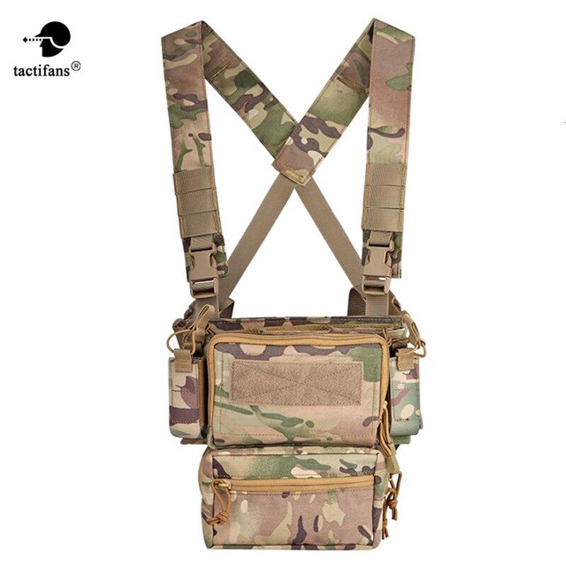 Chaleco táctico ejército pecho Rig armadura X arnés Rifle pistola revista bolsa CRX accesorios de equipo de caza Chestrigs