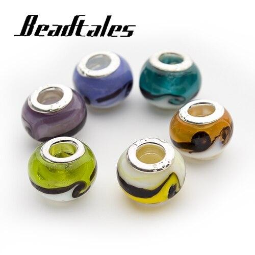 10 teile/los Mixed Chunky Loch 5mm Lucite Großes Loch Europäischen Perlen für DIY Schmuck Armband Finden Zubehör
