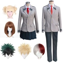 Anime My Hero Academia Midoriya Izuku Costume Cosplay High School Student Uniform Costume da festa di Halloween