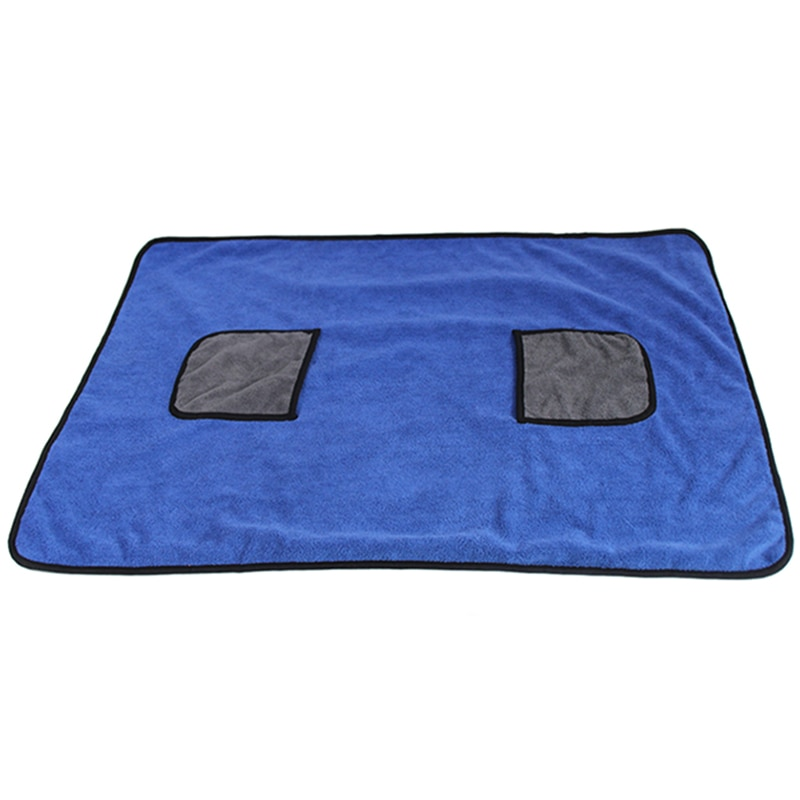 Toalla de secado para mascotas manta de perro Albornoz de microfibra para perros toalla absorbente de secado rápido Toalla de baño súper suave lavadora