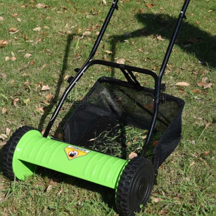 Household Hand-push Manual Grass Trimmer Mower Portable Mowing Machine Garden Tool 16 Inch Lawn Mower With Grass Basket 40CM