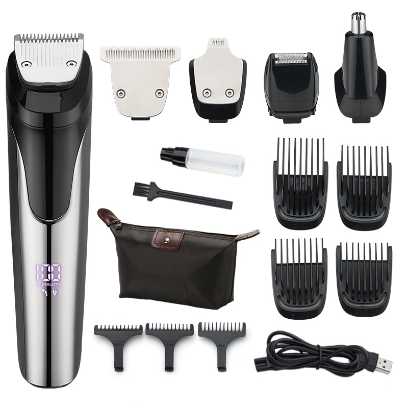 5-in-1 مقص الشعر الكهربائية USB قابلة للشحن مقص الشعر آلة قص الشعر المهنية الكهربائية اللحية الشعر المتقلب للرجال