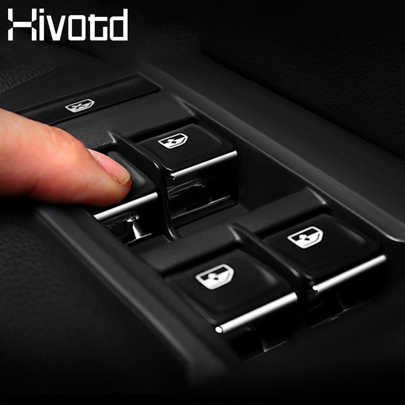 Hivotd para skoda kodiaq 2017 2018 2019 botão interruptor de elevador da janela do carro lantejoulas guarnição etiqueta capa auto acessórios interiores estilo