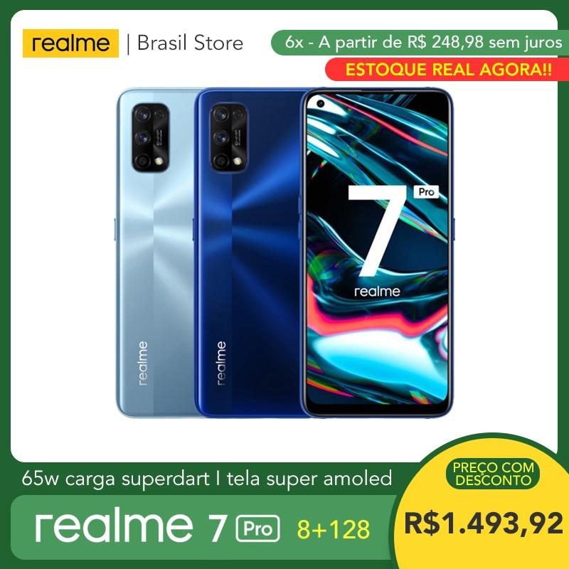 Realme 7 Pro 8 Гб Оперативная память 128 Гб Встроенная память-65W SuperDart заряда | Snapdragon 720G | Super AMOLED Экран | В-дисплей, определение отпечатка пальца