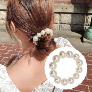 Woman Pearl Korean Style Hair Ties Elastische Elegante Rubber Band Hair Rope Hair Accessories Girls