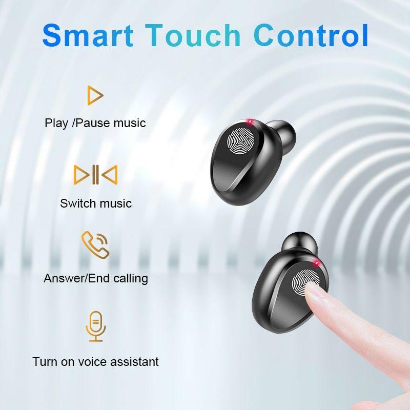 Bluetooth V5.0 Earphones Wireless Headphones With Microphone Sports Waterproof Headsets 2200mAh Charging Box New Earpods enlarge