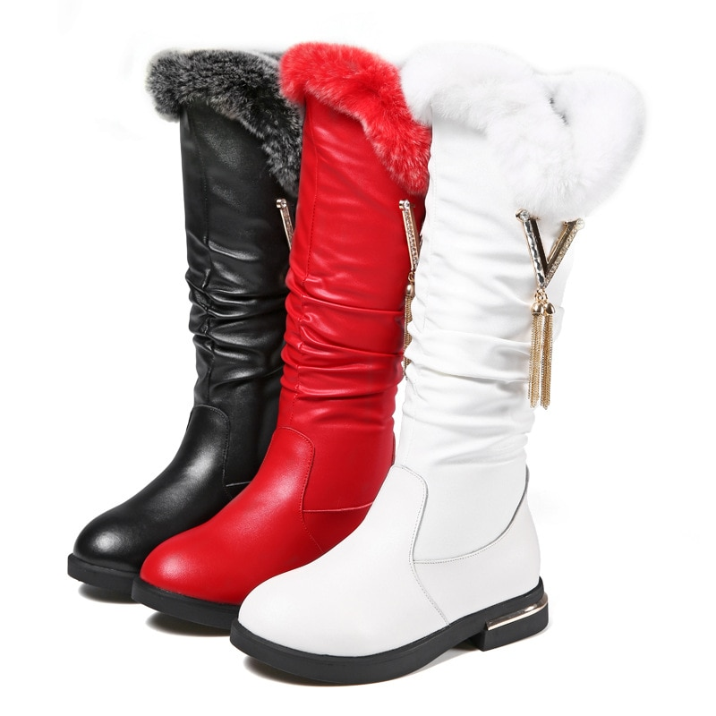 kids knee high boots  boots for kids  kids shoes for girl  kids winter boots  boots for girls  little girl shoes  fur boots enlarge