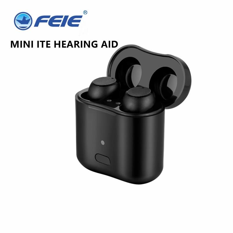 Z101 زوج واحد جديد أفضل حجم صغير قابلة للشحن ITE السمع غير مرئية سماعات مع شحن شحن علبة دروبشيبينغ