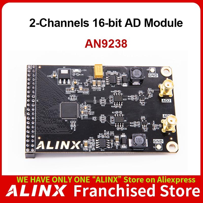 ALINX AN9238: وحدة AD مزدوجة القناة 12 بت للوحة FPGA 65MSPS 10MV
