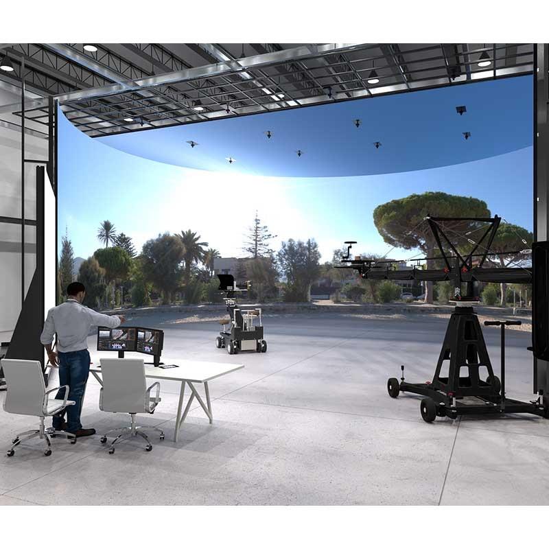 الإنتاج الافتراضي استوديو VP VR XR تصوير صنع مرحلة وحدة إضاءة LED جداريّة جدار الفيديو VFX