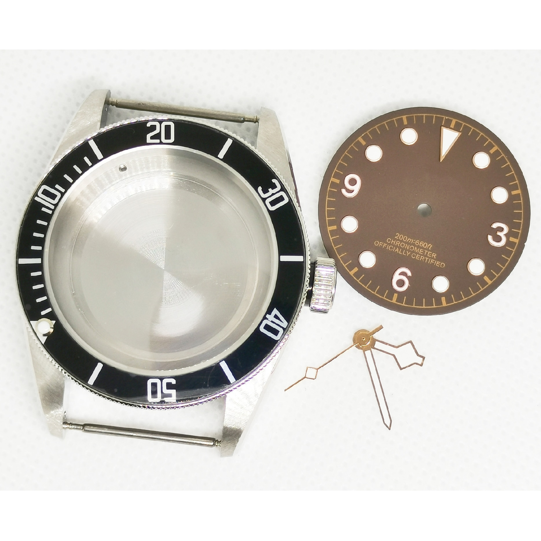 New 40MM Watch Part 316 Stainless Steel Case Add Luminous Dial And Hands Fit Miyota8215 8205 Eta2836 Automatic Movement enlarge