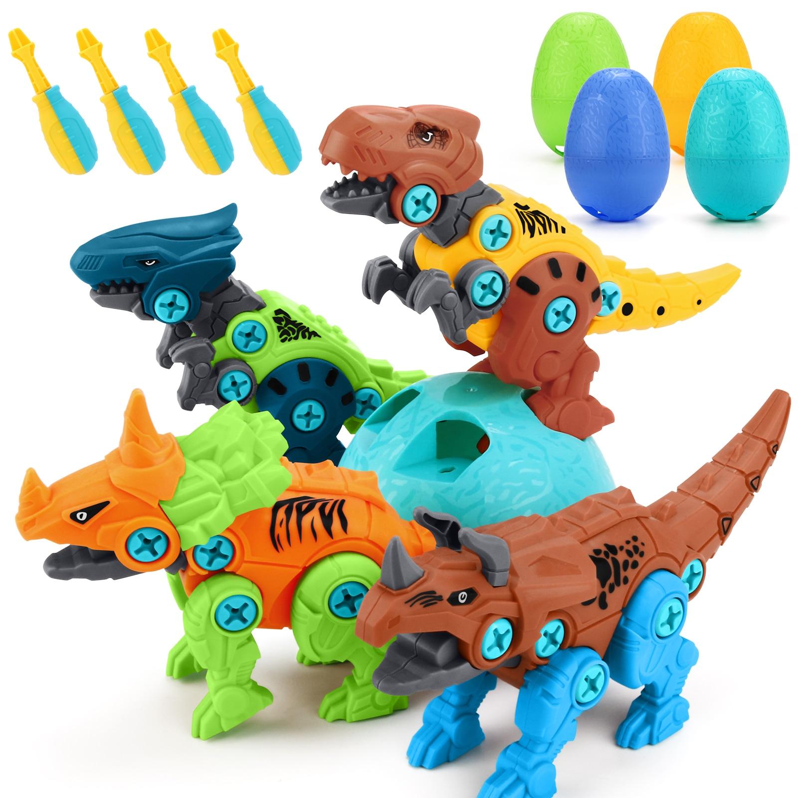 Diy Disassembly Dinosaur Model Toy Set Screw Nut Assembly Plastic Blocks Early Educational Toys for Children Kids Baby Gift