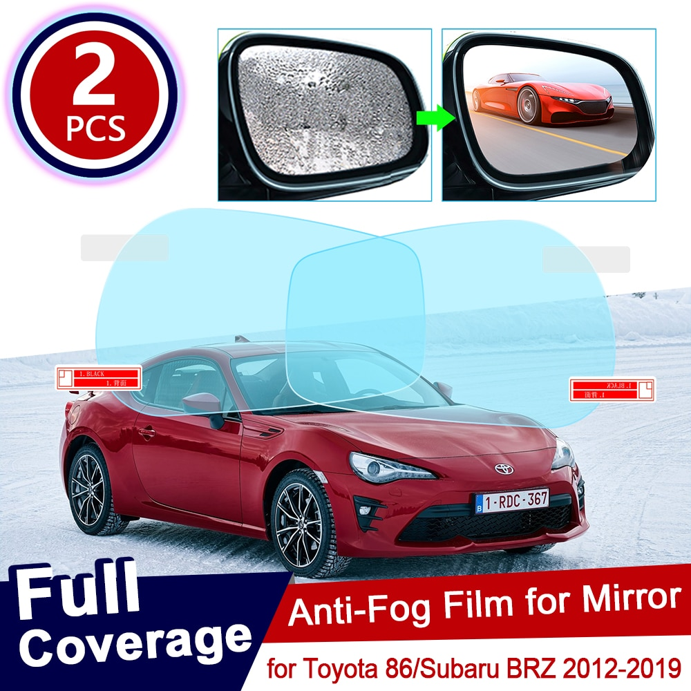 for Toyota 86 GT86 FT86 Scion FR-S Subaru BRZ 2012~2019 Anti Fog Film Cover Rearview Mirror Rainproof Anti-Fog Films Accessories