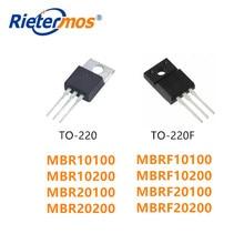 100PCS  MBR10100  MBRF10100 MBR10200  MBRF10200 MBR20100  MBRF20100 MBR20200  MBRF20200 TO-220 TO-220F HIGH QUALITY