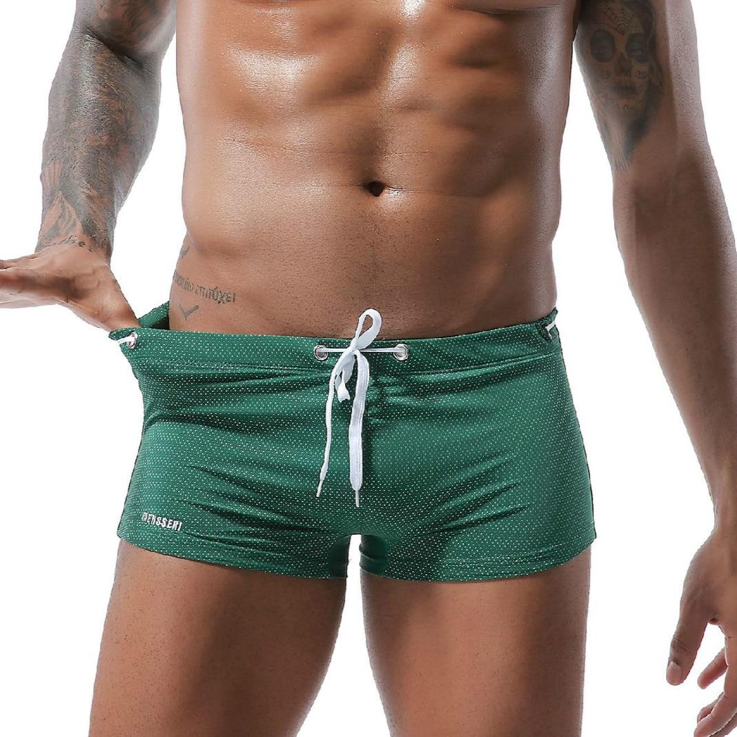 2020 New Men's Swimming Trunks with Drawstring Nylon Low-Rise AussieBum Europe and America Mens Board Shorts Male Sexy Swimwear