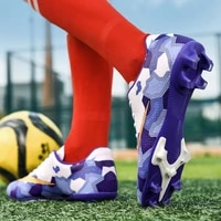 new outdoor soccer shoes men futsal high top soccer cleats adults magista tf football shoes for boys kids football boots ankle