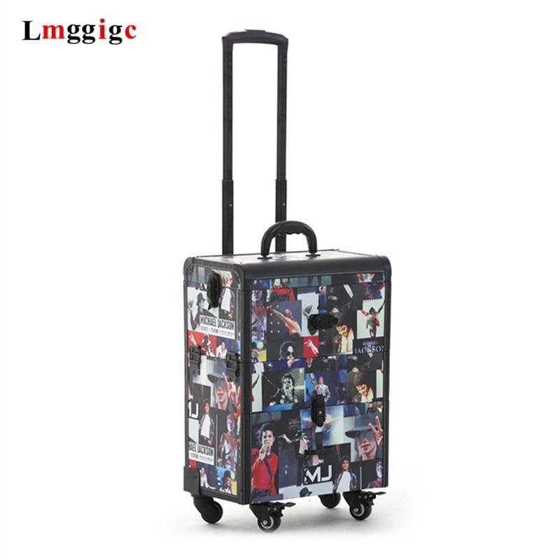 Estuche de cosméticos caja de herramientas de tatuajes bolsa de manicura bolsas de maquillaje de artista caja de barbero caja de viaje maleta de viaje