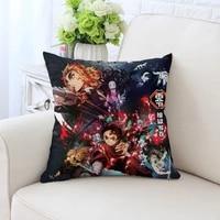 15 75 POUCES Japon Anime Tueur de Demons Affiche Cinema Oreiller Coussin et Taie Doreiller Maison Salon Decoration