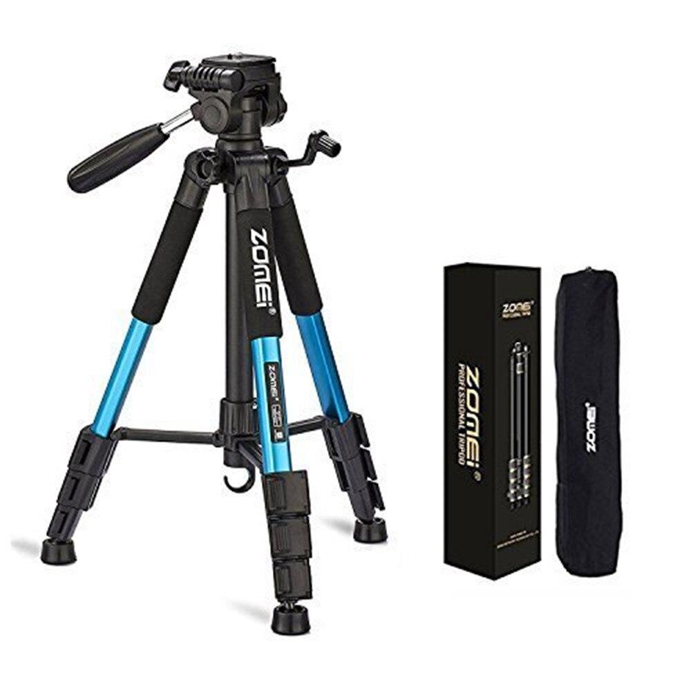 Tripé de Câmera Portátil de Viagem de Alumínio Cabeça para Slr Digital de Três Zomei Profissional Dslr Câmera Cores Q111 & Pan