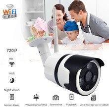 Cámara inalámbrica HD720P WIFI a prueba de agua seguridad exterior bala IR visión nocturna IP66 a prueba de intemperie tarjeta Micro SD #20