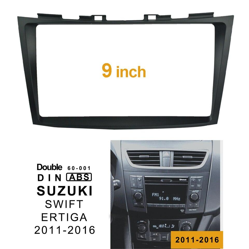 2Din автомобильный CD DVD рамка аудио фитинг адаптер Дэш отделка гранита панель 9 дюймов для SUZUKI SWIFT ERTIGA 2011-17 двойной Din радио плеер
