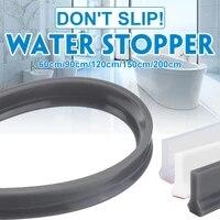 Bande de retenue deau pour salle de bain grise  30MM  pliable  seuil de douche  barriere de barrage deau