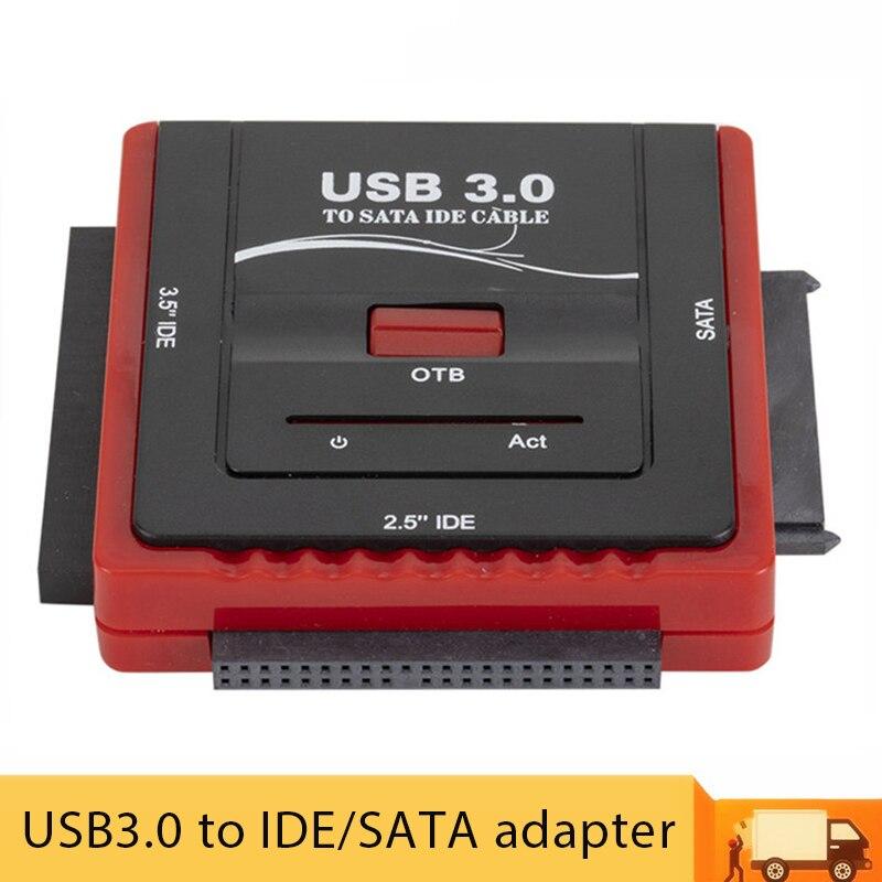 USB 3.0 إلى SATA/IDE محول القرص الصلب العالمي 2.5/3.5 بوصة HDD SSD الولايات المتحدة/الاتحاد الأوروبي قرص صلب محول كابل لأجهزة الكمبيوتر المحمول سطح المكتب