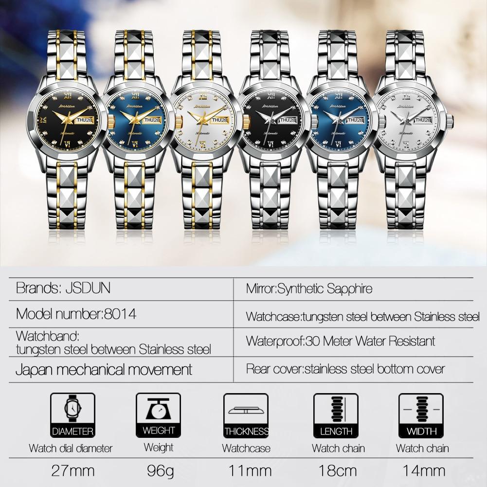 JSDUN Women's Automatic Mechanical Watch Waterproof Stainless Steel Strap Women's Mechanical Watch Fashion enlarge