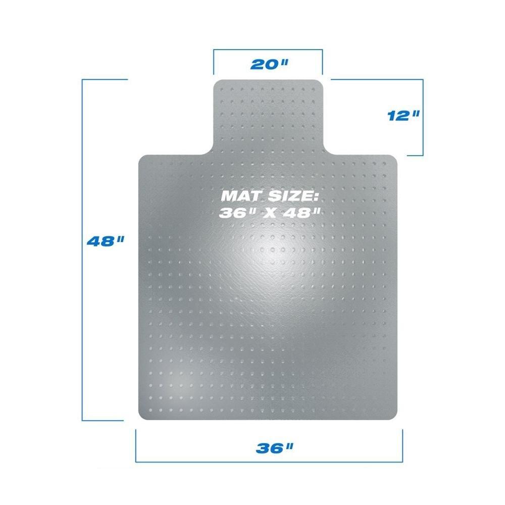 حصيرة واقية لكرسي الأرضية شفافة ، سجادة PVC للاستخدام المنزلي ، 90x120x0.25 سنتيمتر