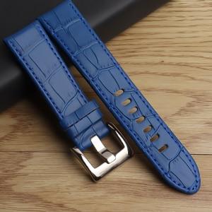 22 mm Genuine Leather Watchband Men's Watch Strap for Montblanc Star 36065 Wtach Band Belt Bracelet Brown Black blue