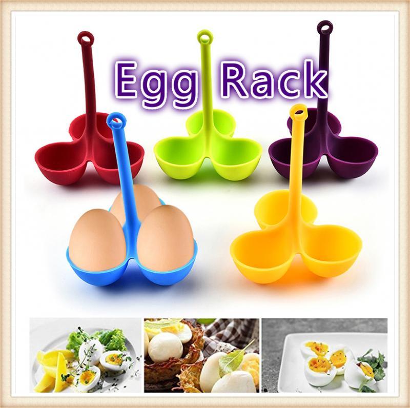 Rejilla de silicona para huevos de grado alimenticio, hervidor de 3 huevos, bandeja de ebullición de agua blanda dura, máquina para freír panqueques, herramientas de cocina para hornear, accesorios calientes