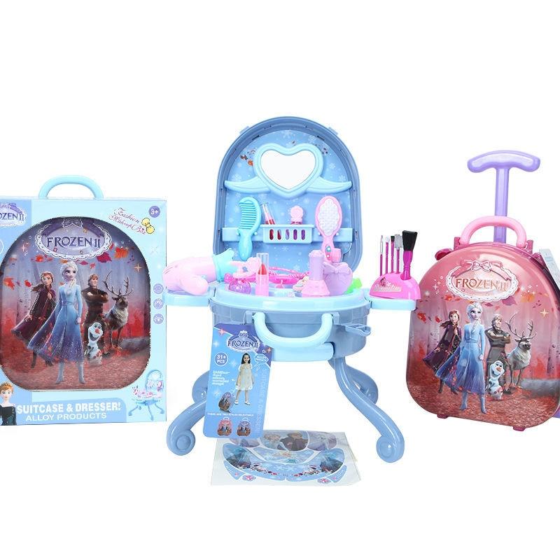 Фото - Disney Frozen 2 elsa anna  Makeup set   girls  Trolley case Cosmetic box set Handbag Suitcase kids Dressing  toy подарочный набор disney frozen ii anna house set