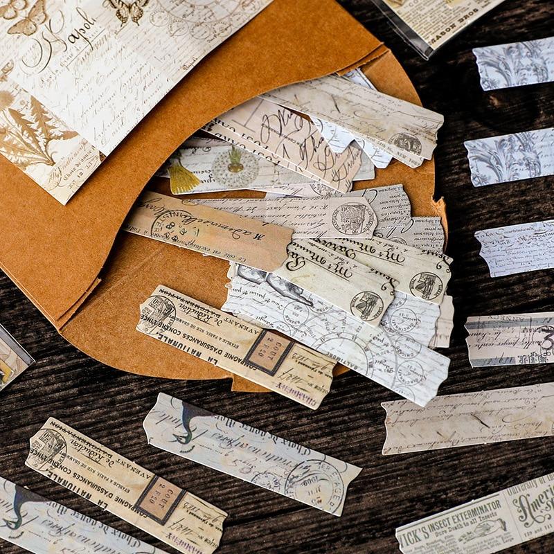 rastro-de-memoria-serie-originalidad-vintage-diario-pegatinas-animal-lindo-de-kawaii-estetica-pegatinas-diario-scrapbooking-diy