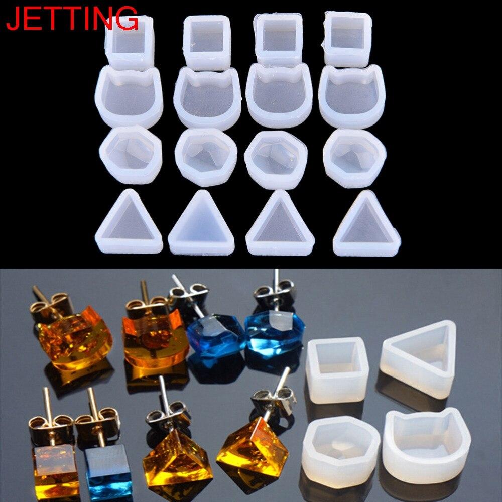 2 uds., hecho a mano, fundición de resina, anillos de joyería, molde, pendiente colgante, pendiente de Resina de silicona, herramienta de fabricación artesanal, nuevo
