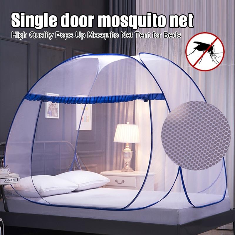 Quente de alta qualidade pops-up mosquito net tenda para camas anti mosquito picadas design dobrável com fundo completo para viagem d6