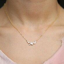 41 + 5cm collier chaîne haute qualité or rempli 925 argent sterling pavé AAA cz minuscule carré pendentif chocker collier