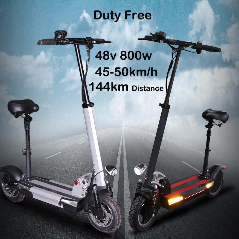 48V 36A batería de litio scooter Eléctrico 48v 800w max más de 144km bicicleta eléctrica plegable con asiento patineta eléctrica
