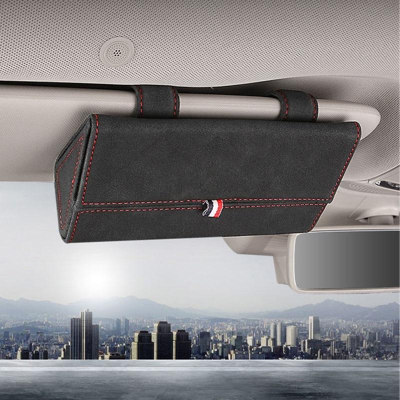 Funda para gafas de coche SEAT LEON ARONA ATECA IBIZA FR, gafas de sol multifunción para soporte de almacenamiento, accesorios para visera y coche