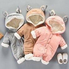Combinaison hiver pour noël   Tenue dextérieur en coton, costume Elk pour enfants filles, vêtements de neige pour bébés