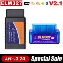 OBD 2 Super Mini ELM327 Ulme-327 Bluetooth OBD2 V 2,1 code reader Auto Scanner ulme 327 Tester Adapter diagnose-Tool für Android