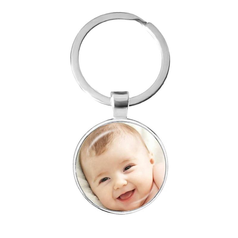 Персонализированные пользовательские брелок фото мама папа ребенок дети дедушка родители индивидуальный дизайн фото подарок для семьи юб...