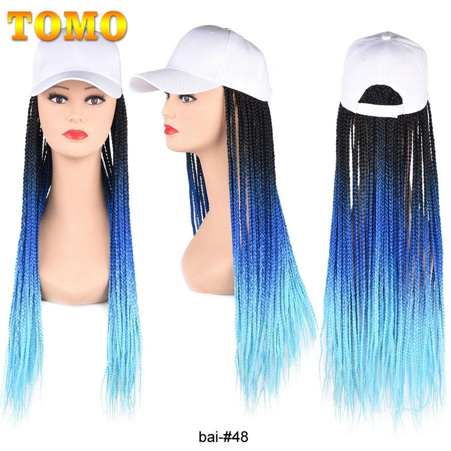 tomo longo bone de beisebol trancas perucas ombre cor sintetica caixa trancada cabelo