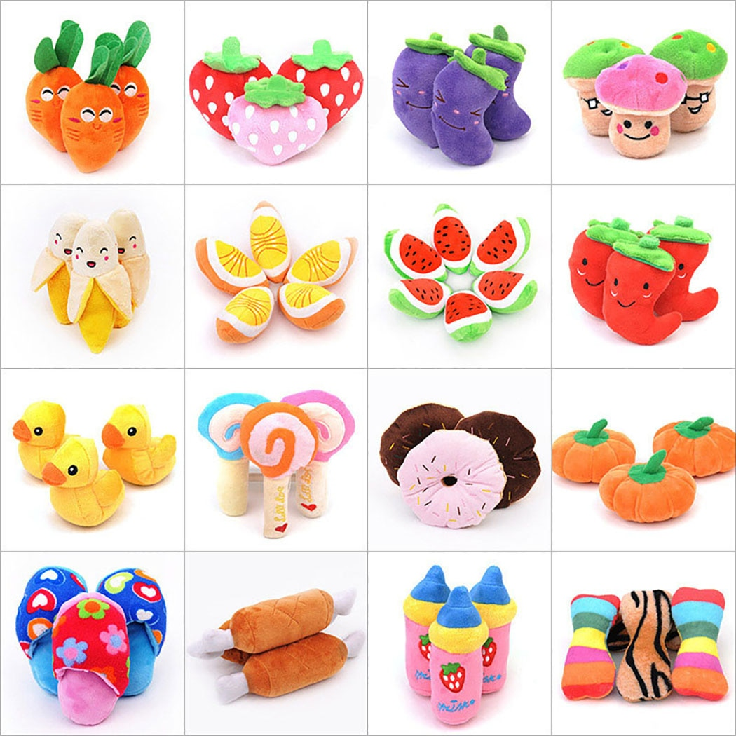 Soft Fleece Dog Interective Squeak Sound Dog Toys Dog Toy Bite Resistant Funny Cartoon Dog Squeaky Toy Plush Toy Pet Toy new funny sounding toy hand pinch toy pet toys sound dog toys molar bite resin simulation plastic beer bottles