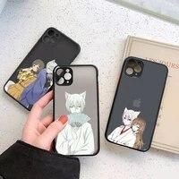 anime kamisama hajimemashita tomoe phone case for iphone 12 11 mini pro xr xs max 7 8 plus x matte transparent cover